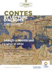 Le samedi 13 janvier à 14h30 et à 16h30, venez nombreux assister aux séances de contes au Site archéologique Lattara-musée Henri Prades de Lattes