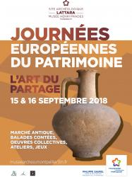 15 et 16 septembre 2018, de 10h à 18h > Journées Européennes du Patrimoine au site archéologique Lattara-musée Henri Prades à Lattes