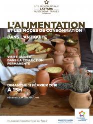 """Dimanche 11 février 2018 à 15h : visite guidée thématique """"L'alimentation et les modes de consommation dans l'Antiquité"""""""
