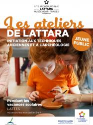 Du 9 juillet au 31 août 2018, ateliers pour les enfants au site archéologique Lattara-musée Henri Prades à Lattes