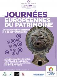 21 et 22 septembre 2019, de 10h à 18h > Journées Européennes du Patrimoine au Site archéologique Lattara-musée Henri Prades à Lattes