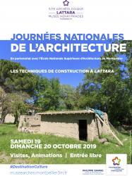 19 et 20 octobre 2019, Journées Nationales de l'Architecture au Site archéologique Lattara-musée Henri Prades de Lattes