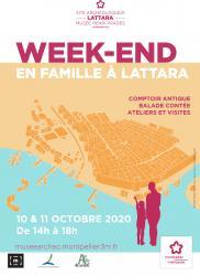 10 et 11 octobre 2020, de 14h à 18h30 > Week-end Famille à Lattara