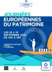 Samedi 18 et dimanche 19 septembre 2021, de 10h à 18h > Journées Européennes du Patrimoine à Lattara