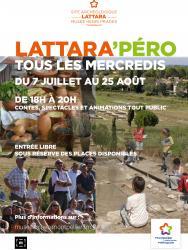 Rendez-vous tous les mercredis au Site archéologique Lattara-musée Henri Prades pour les Lattara'péro