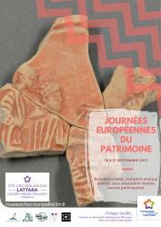 16 et 17 septembre 2017, de 10h à 18h, participez aux Journées Européennes du Patrimoine au site archéologique Lattara-musée Henri Prades à Lattes