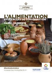 """Samedi 16 novembre 2019 à 15h > Visite guidée thématique """"L'alimentation et les modes de consommation dans l'Antiquité à Lattara"""""""""""